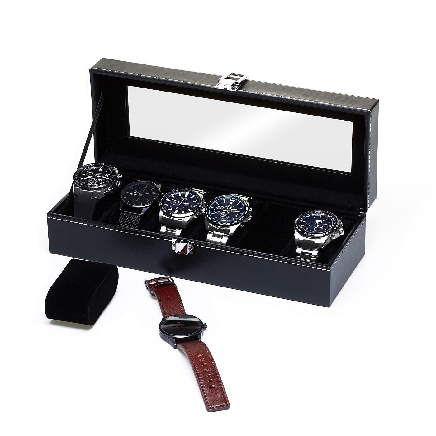 Watchbox Black, egnet til 6 ure.