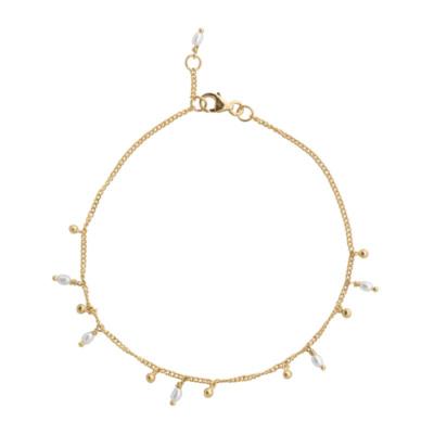 ANNA + NINA 925 Sterling Zilveren Essentials Cosmic Dust Goudkleurige Armband 18-2M907008GP (Lengte: 18.00 cm)