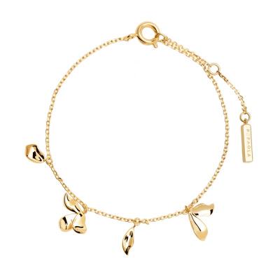 P D Paola 925 Sterling Zilveren Blossom Jasmine Gold Armband PU01-092-U