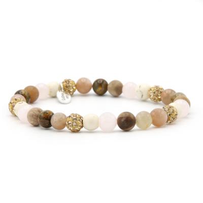 Karma Spiral Simply Brown Armband 83613EL (Lengte: 18.00 cm)