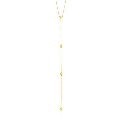 Ania Haie 925 Sterling Zilveren Goudkleurige Modern Minimalism Collier AH-N002-02G (Lengte: 40.00 cm)
