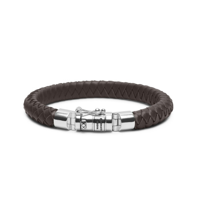 Buddha to Buddha Ben Small Leather Brown Armband 180BR-D (Lengte: 18.00-23.00 cm)