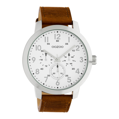 OOZOO Timepieces Bruin/Wit horloge C10505