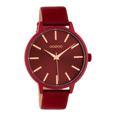OOZOO Timepieces Rood horloge C10618