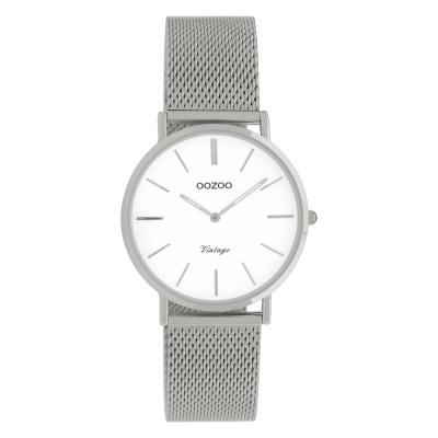 OOZOO Vintage Zilverkleurig/Wit horloge C9903 (32 mm)