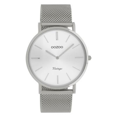 OOZOO Vintage Zilverkleurig horloge C9905 (40 mm)