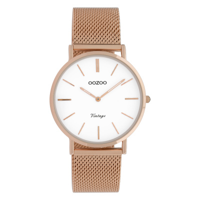 OOZOO Vintage Rosegoudkleurig/Wit horloge C9918 (36 mm)
