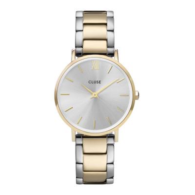 CLUSE Minuit Goudkleurig/Zilverkleurig horloge CW0101203028