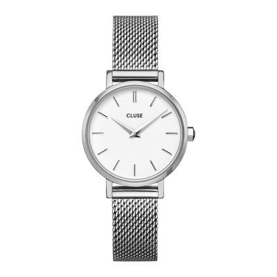 CLUSE Boho Chic Petite Zilverkleurig/Wit horloge CW0101211007