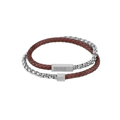 BOSS Blended Armband HBJ1580149M (Lengte: 19.00 cm)