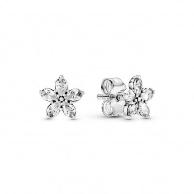 Pandora Snowflake 925 Sterling Zilveren Oorbellen Met Zirkonia 299239C01