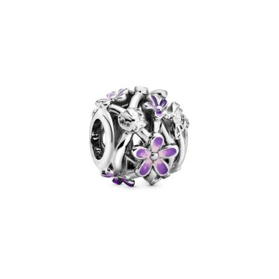 Pandora Garden 925 Sterling Zilveren Openwork Purple Daisy Bedel 798772C02