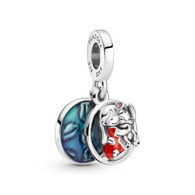 Pandora Disney 925 Sterling Zilveren Lilo Stitch Family Hanger 799383C01