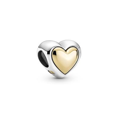 Pandora Passions 925 Sterling Zilveren Domed Golden Heart Hanger 799415C00