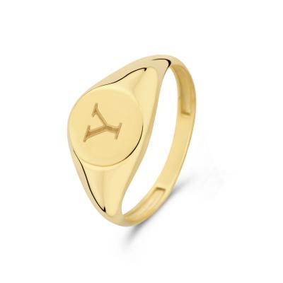 Isabel Bernard Le Marais Lauren 14 Karaat Gouden Initial Ring IB330034Y (Letter: Y)