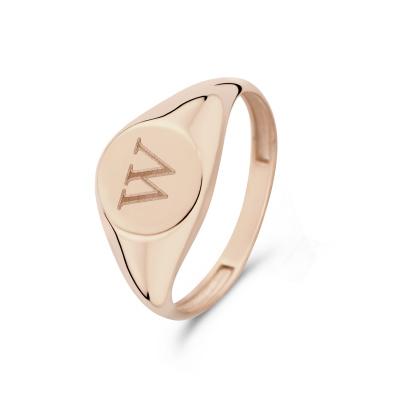 Isabel Bernard La Concorde Lauren 14 Karaat Rosé Gouden Initial Ring IB330036W (Letter: W)