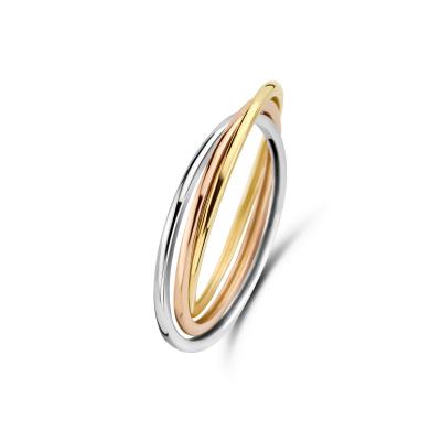 Isabel Bernard Tricolore Maeva 14 Karaat Gouden Ring Met Drie Kleuren Goud IB330039