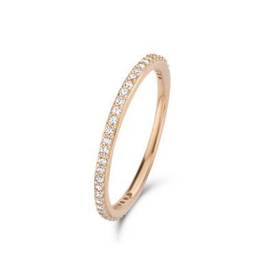 Isabel Bernard Asterope Stones 14 Karaat Roségouden Stacking Ring IBGR00023