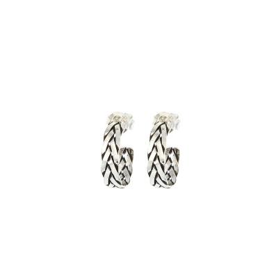 Karma 925 Sterling Sølv Symbols XL Braid Hoops øreringe M1100