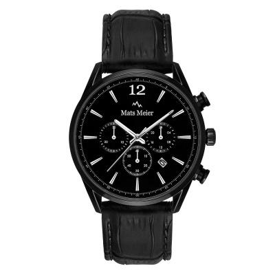 Mats Meier Grand Cornier Chrono Mat Zwart horloge MM00102