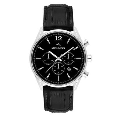 Mats Meier Grand Cornier Chrono Zwart horloge MM00106