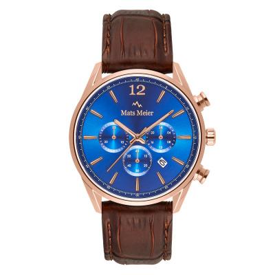 Mats Meier Grand Cornier Chrono Blauw/Rosegoudkleurig horloge MM00113