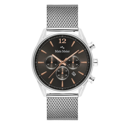 Mats Meier Grand Cornier Grijs/Zilver Chrono horloge MM00130