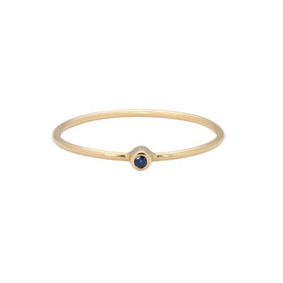ANNA + NINA 14 Karaat Gouden Solid Gold Birthstone September Ring 19-3M908025G