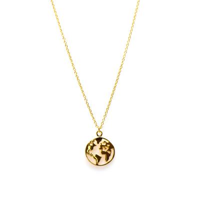 Karma 925 Sterling Zilveren Goudkleurige Earth Collier T145 (Lengte: 38.00-45.00 cm)