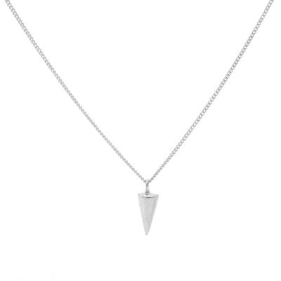 Karma 925 Sterling Zilveren Round Cone Ketting T194 (Lengte: 50.00-57.00 cm)