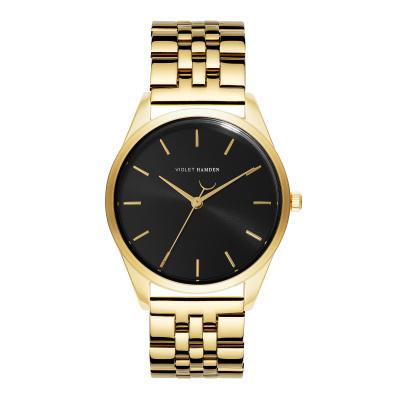 iolet Hamden Serene City Goudkleurig/Zwart horloge VH04006